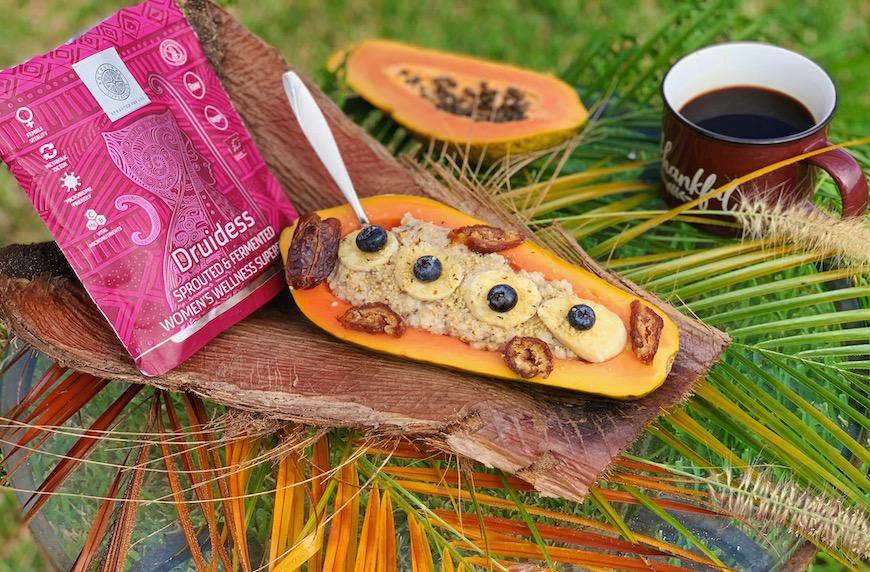 """Моята """"есенна """" закуска в Маями. Ползи от папаята. ANCESTRAL Superfoods в комбинация с папая."""