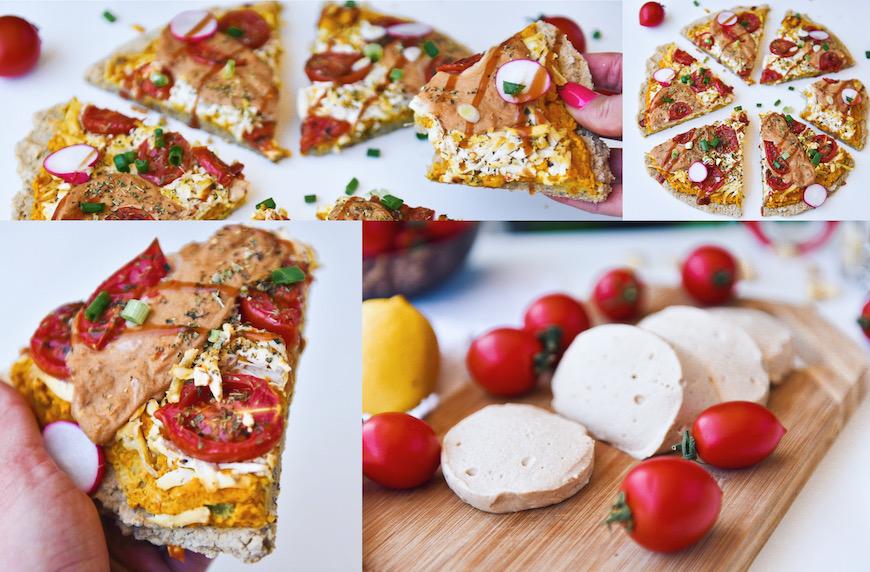 Веган високопротеинова моцарела и рецепта за здравословна фитнес пица